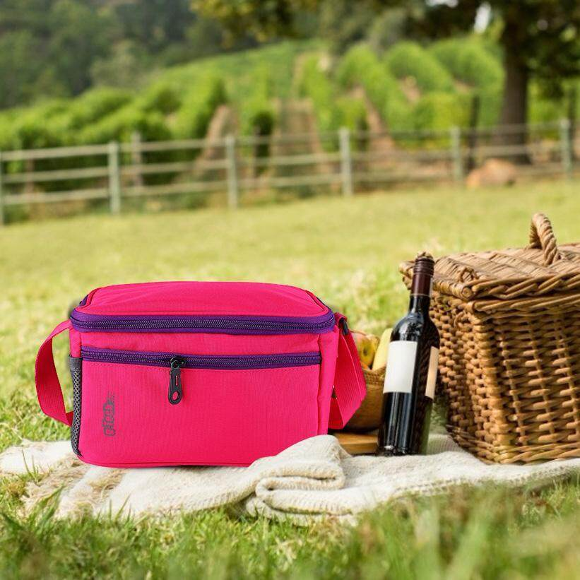 Outdoor Camping Picnic Lunch Box Portable Shoulder Strap Food Storage Tote Bag
