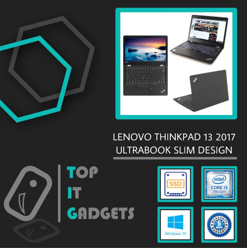 LENOVO THINKPAD 13 ULTRABOOK BUSINESS [ INTEL CORE I3 7TH GEN KABY LAKE / 8GB DDR4 RAM / 128GB SSD STORAGE / WINDOW 10 PRO GENUINE ] 6 MONTHS WARRANTY [ LAPTOP ] Malaysia