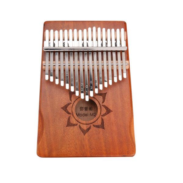 Đàn Kalimba 17 Phím Gỗ Gụ Đàn Piano Ngón Tay Kèm Túi Đựng Tuner