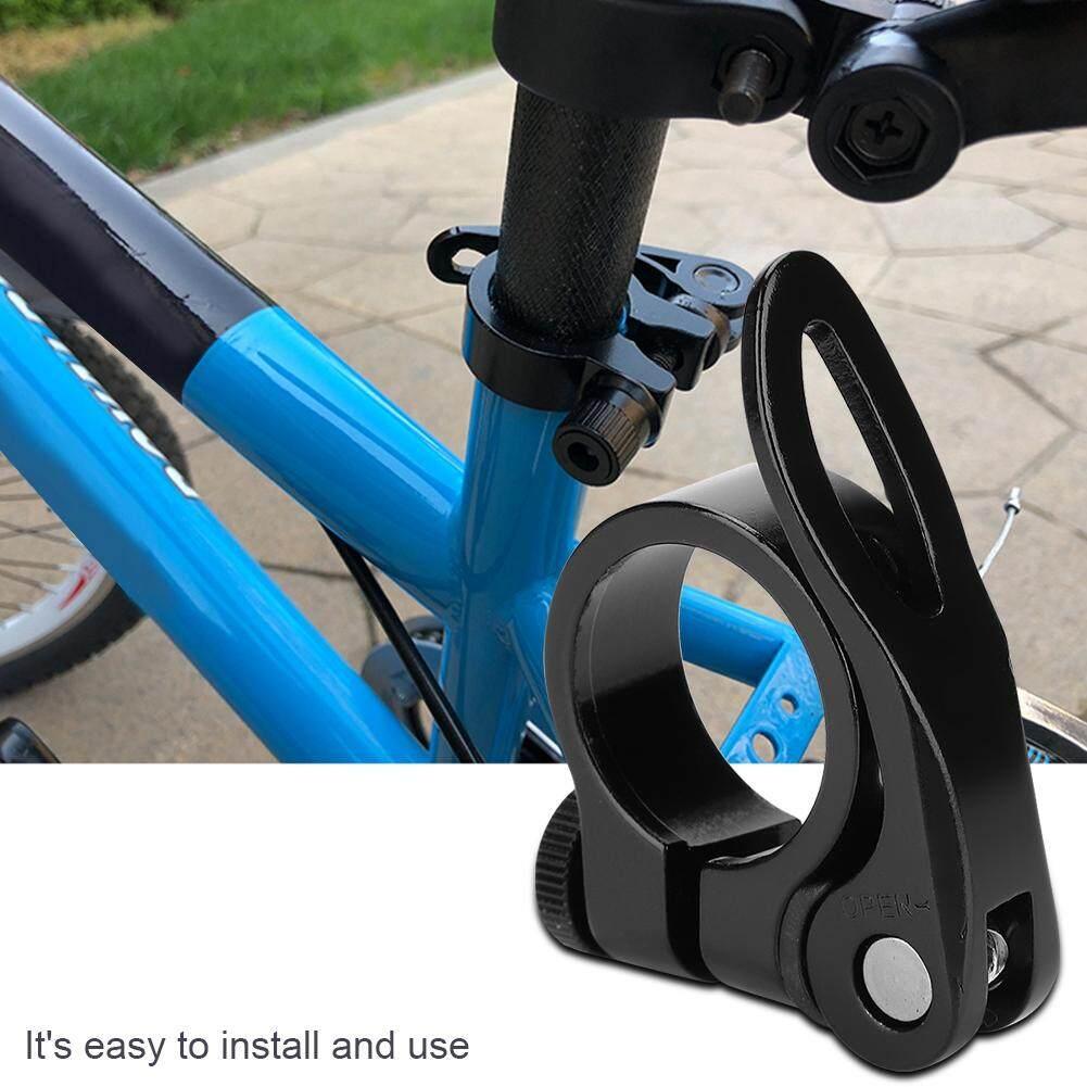 Nihua-Sepeda Jalanan Gunung Medan Aluminium Sepeda Pipa Sadel Logam Campuran Kursi Penjepit Tiang Rilis Cepat HITAM
