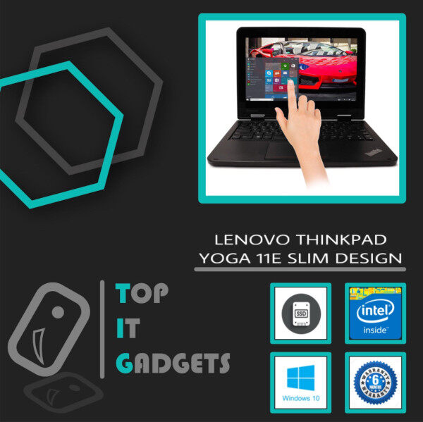 LENOVO THINKPAD YOGA 11E TOUCHSCREEN SLIM DESIGN - INTEL CELERON QUAD CORE 2.3GHZ / 4GB DDR3 RAM / 256GB SSD STORAGE / WINDOW 10 PRO / 12 INCH / 6 MONTHS WARRANTY [ LAPTOP ] Malaysia
