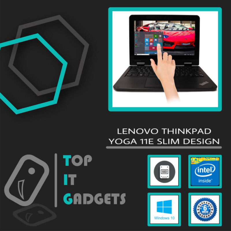 LENOVO THINKPAD YOGA 11E TOUCHSCREEN SLIM DESIGN - INTEL CELERON QUAD CORE 2.3GHZ / 4GB DDR3 RAM / 256GB SSD STORAGE / WINDOW 10 PRO / 12 INCH / 6 MONTHS WARRANTY [ LAPTOP ] Malaysia