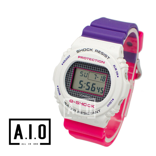 Casio G-Shock DW-5700 Lineup Special Color Models Purple and Pink Resin Band Watch DW5700THB-7D DW-5700THB-7D DW-5700THB-7 (watch for man / jam tangan lelaki / casio watch for men / casio watch / men watch / watch for men) Malaysia
