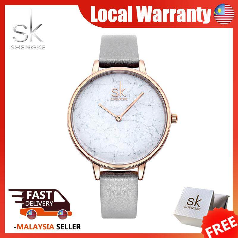 SK Business Watch for Women Fashion Classic Simple Casual Waterproof Leather Strap Round Dail Quartz Watches Grey Jam Tangan Wanite Malaysia