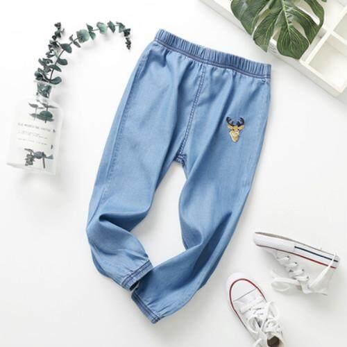 07d9a5ee74 Summer Kids Girls Boys Pants Cotton Elasticity Children's Jeans Trousers  Clothes