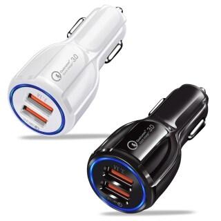 Bộ Chuyển Đổi Sạc Nhanh QC 3.0, Sạc Xe Hơi USB Kép 3.1A Cho Máy Tính Bảng Điện Thoại Thông Minh thumbnail