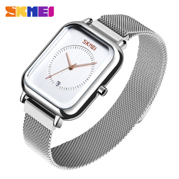 SKMEI Fashion Casual Watches Quartz Stainless Steel Elegant Date Wateproof Watch For Women 9207 Malaysia