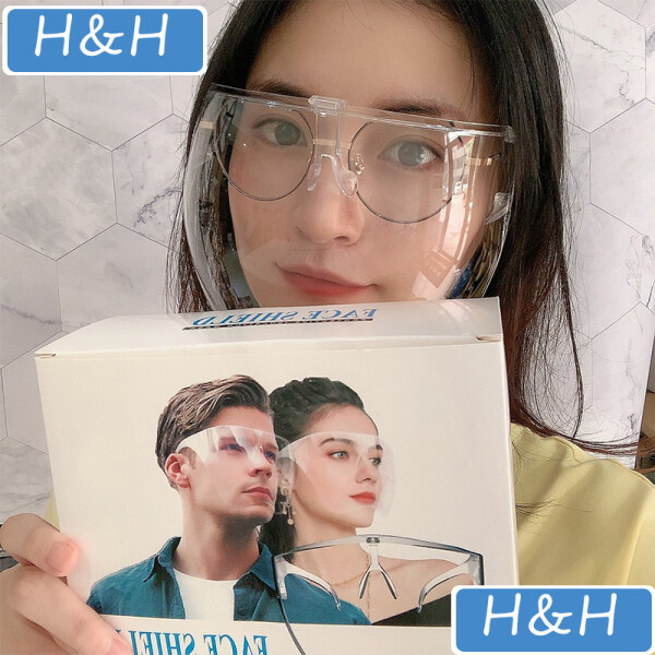 【Health home 】【Ready Stock】No dizzy Oversized Full Face shield large mirror protective Blocc acrylic Visor Sunglasses Eye Shields goggles safety glasses Eye Shields Visor acrylic sunglasses