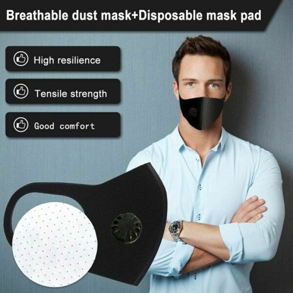 [Homesty] PM2.5 anti-fog respirator unisex riding mas k with filter carbon dust-proof anti-fog respirator
