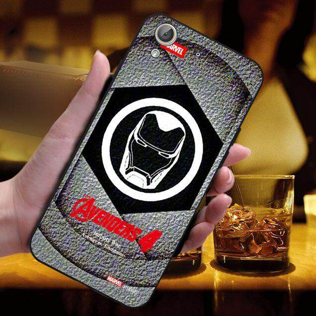 2019 Avengers4 Design-1 Soft Silicon Black TPU Phone Back Case Cover For Huawei Y6II