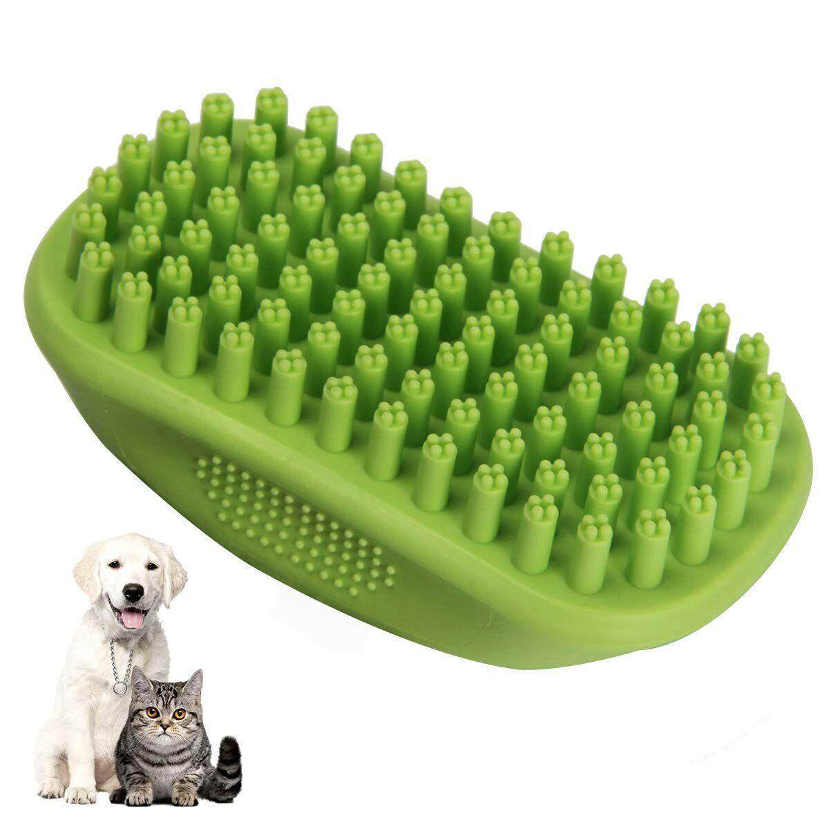Pet Bath & Massage Brush Comb By Great Grooming Tool With Soft Bristles For Long & Short Hair Medium Large Pets Dogs Cats Shampooing And Shower By Ertic.