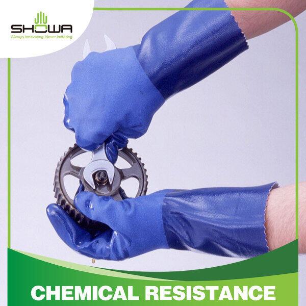 [Showa x Excia] SHOWA CS720 Nitrile Coating Gloves Chemical Resistance Seamless Glove (S/M/L)