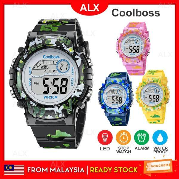 ALX BORONG Malaysia Sport Student Children Watch Kids Watches Boys Clock Child LED Digital Jam Kid Malaysia