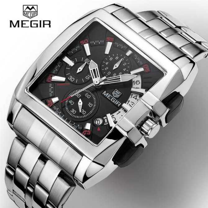 MEGIR Fashion Brand Luxury Mens Watch Stainless Steel Mens Quartz Watch Business Big Dial Watch Relogio Masculino Malaysia