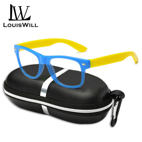 Giá bán LouisWill Anti-blue Light Glasses Children Kids Computer Glasses Reading Phone Glasses AC Anti-blue Lens PC Frame Eyeglasses Primary School Student Eyewear Fashion Kid Eyes Protection