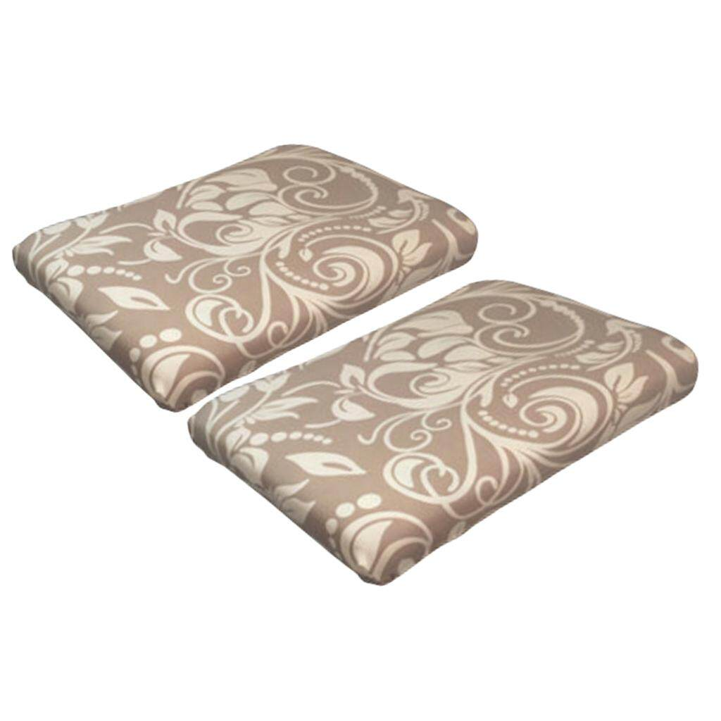 Perfk 2Pcs Stool face dust cover dressing table stool set Chinese style Flower 3
