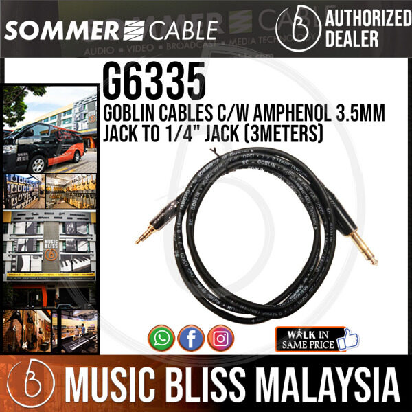 Sommer (G6335) Goblin 3.5mm TRS to 1/4 Inch TRS Cable (3m) Malaysia