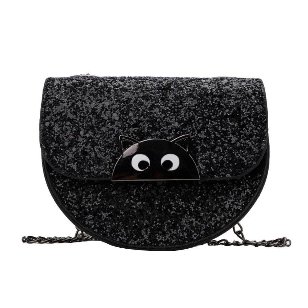 Fashionhead  Fashion Children Girls Animal Eyes Sequined Small Flap Crossbody Shoulder Bag