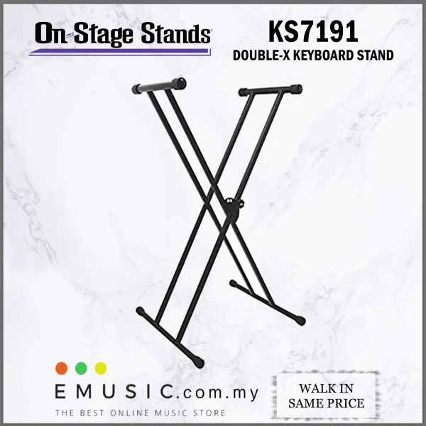 On Stage Stands KS7191 Classic Double X Keyboard Stand (On-Stage / KS-7191) Malaysia