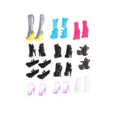 Bộ 10 đôi tất Thời Trang Phụ Kiện Giày Cao Gót Giày Dép Xăng Đan Cho Quái Vật Búp Bê Nhiều Màu Sắc