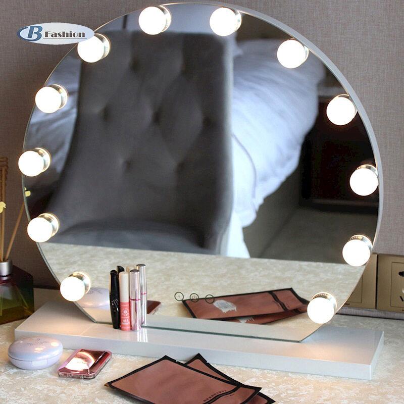 B-F Gương Trang Điểm Có Đèn LED Sáng Bộ Bàn Trang Điểm Treo Tường Đèn Âm Trần Chạm Điều Khiển