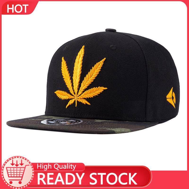 786099736 Victory Men's flat along hip hop hat hip-hop baseball cap male hemp leaf  embroidery personality cap