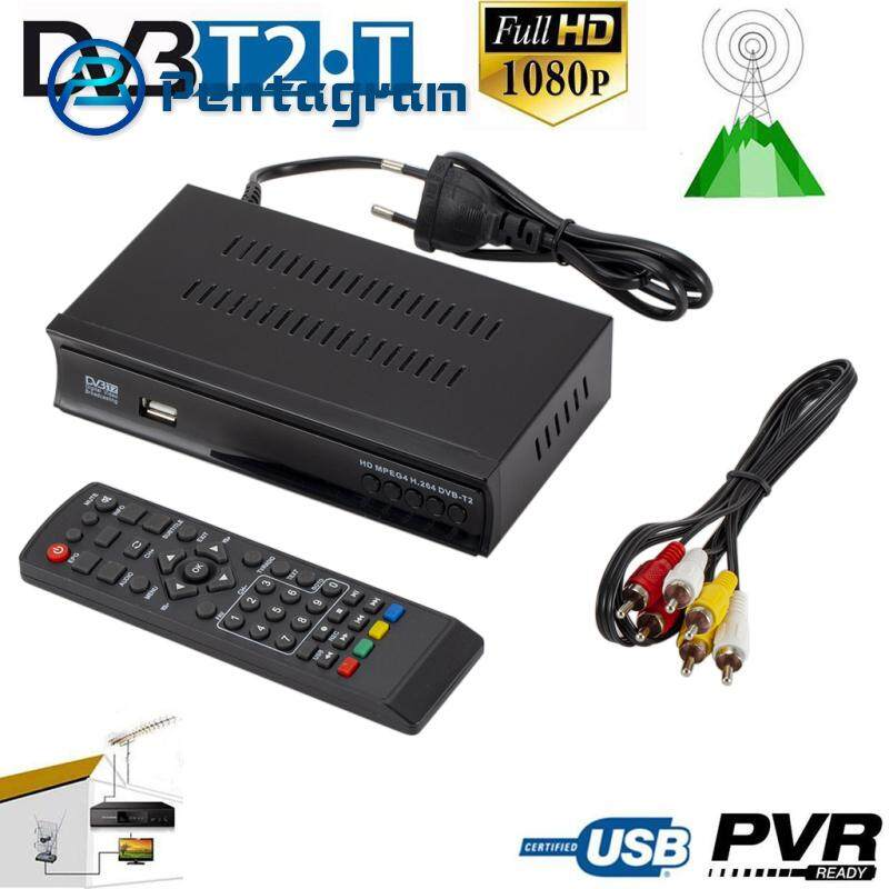DVB-T2 TV Tuner Terrestrial Receiver DVB S/S2 Digital Satellite Receiver  Support H 265 AC3 Dobly