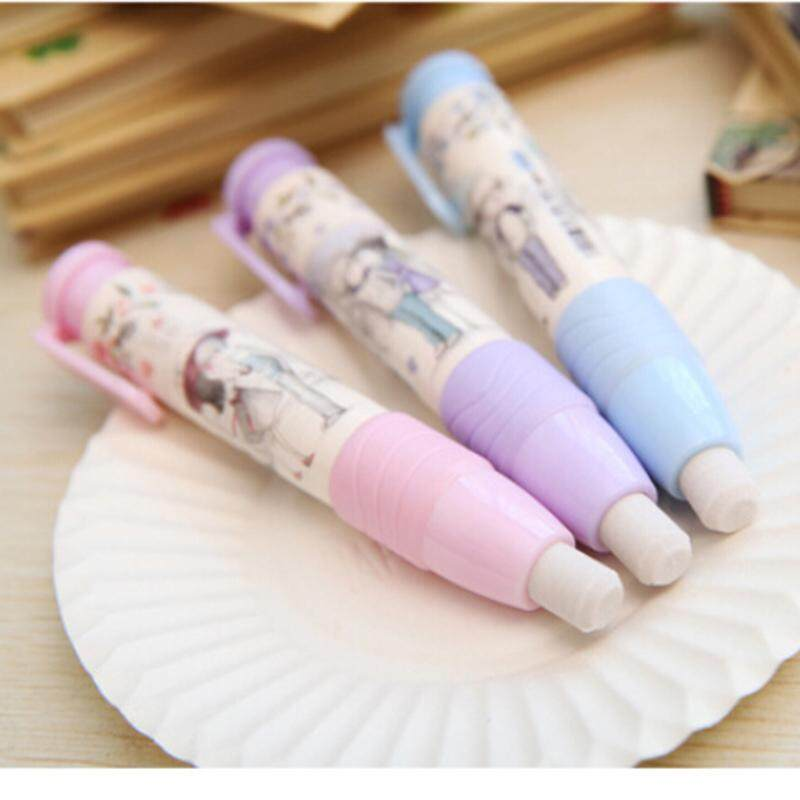 Fashion Students Pen Shape Eraser Rubber Stationery Kid Gift Toy Cute