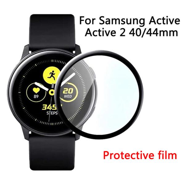Miếng Dán Bảo Vệ Kính Trmpered 5D HD Miếng Dán Bảo Vệ Màn Hình Đồng Hồ Thông Minh Cho Samsung Galaxy Watch Active/Active 2 40Mm/44Mm