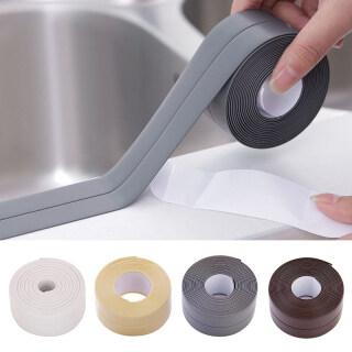 Băng dán làm bằng nhựa PVC có khả năng chống ẩm chống nước dùng để dán góc tường góc bồn rửa góc nhà tắm nhà bếp (kích thước 2.2 320cm) - INTL thumbnail