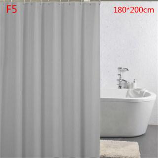 Rèm Tắm Zhuying, Vòng Móc Không Thấm Nước Phòng Tắm Màu Trơn Tắm Rộng Lớn, F5 thumbnail