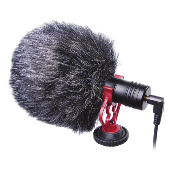 Blesiya Universal On-Camera Microphone with Shock Mount for Youtube Smartphones DSLR