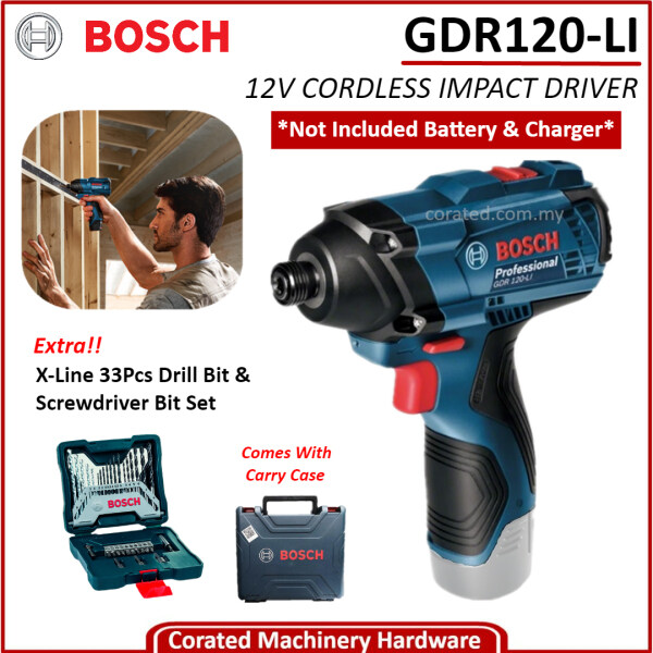 [CORATED] Bosch GDR120-LI Cordless Impact Driver WITHOUT BATTERY & CHARGER (6 Month Warranty)