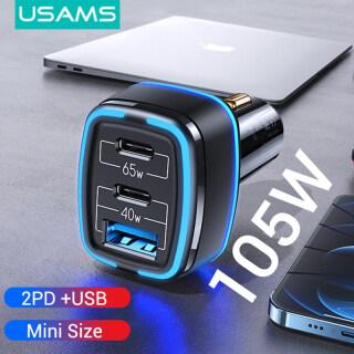 USAMS Sạc Xe PD 105W + Bộ Sạc Xe Hơi Nhanh 3 Cổng USB, PD3.0 + QC3.0 Dành Cho iPhone Xiaomi Huawei OPPO thumbnail