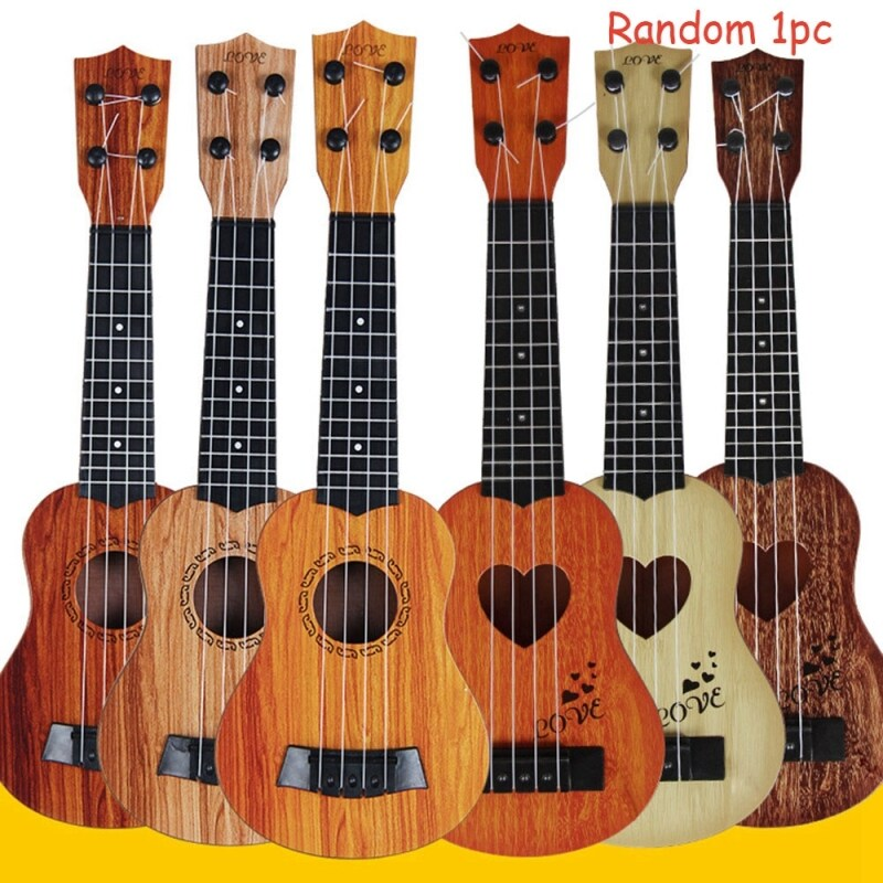 AD8T2 Random color 1pc 32cm/39cm Birthday Gift Children Kids Christmas Education Development Toy Mini Ukulele Musical Instruments Simulation Guitar Malaysia