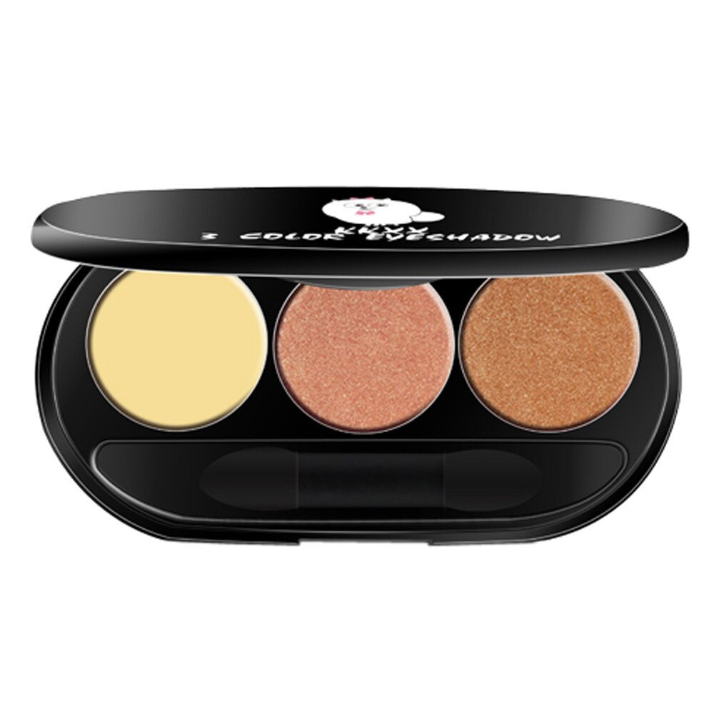 Newest Color Three Peach Makeup Warm Smoked Color Matte Beads Eye Shadow