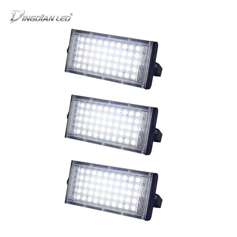 DINGDIAN LED 3Pack LED Flood Light 220V Outdoor Light Super Bright Lighting IP66 Waterproof 50W Perfect Power 5 Colors Floodlights LED Multicolour Spotlights SearchLight