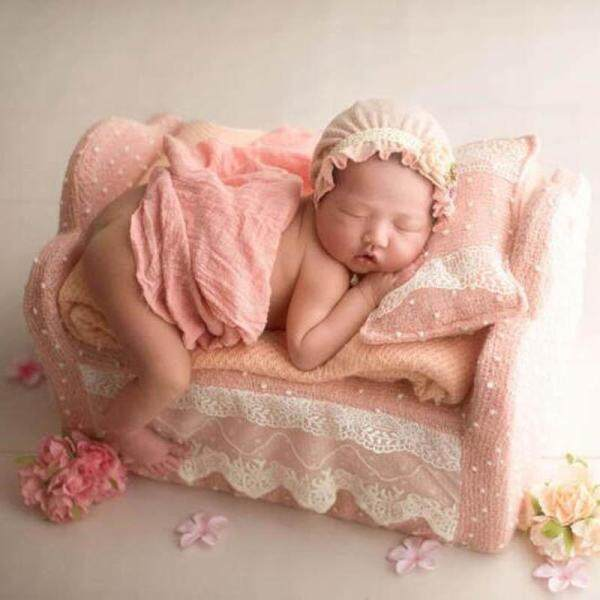 2pcs/set Newborn Photograph Bed +Pillow Baby Photography Props Baby Mini Cribs Infant Sofa Photography Modeling Accessories