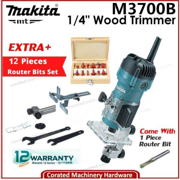 [CORATED] Makita MT M3700B 1/4 - 6MM Wood Trimmer or + trimmer bits (1 year warranty) M3700G