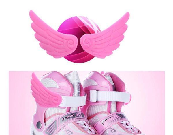 Phân phối Phụ kiện trượt ván 1 đôi giày trượt patin mới Trang trí cánh Phụ kiện trượt băng Đôi cánh nhỏ Đáng yêu Dễ thương cho trẻ em người lớn