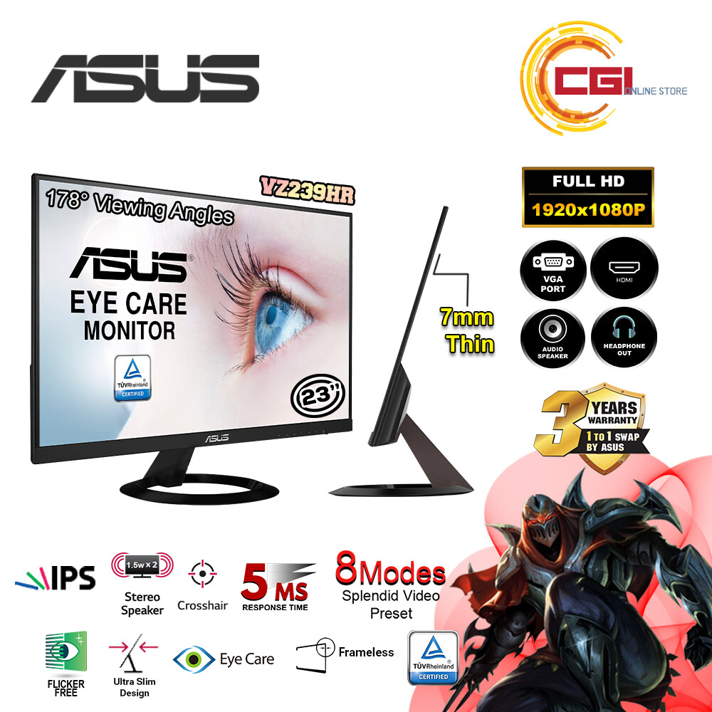 Asus 23 Eye Care Monitor  VZ239HR FHD IPS Ultra-Slim Malaysia