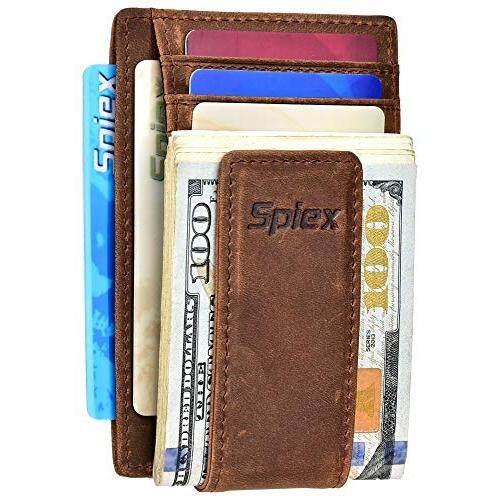 Spiex Slim Minimalist Wallet for Men /& Women RFID Blocking Front Pocket Wallet