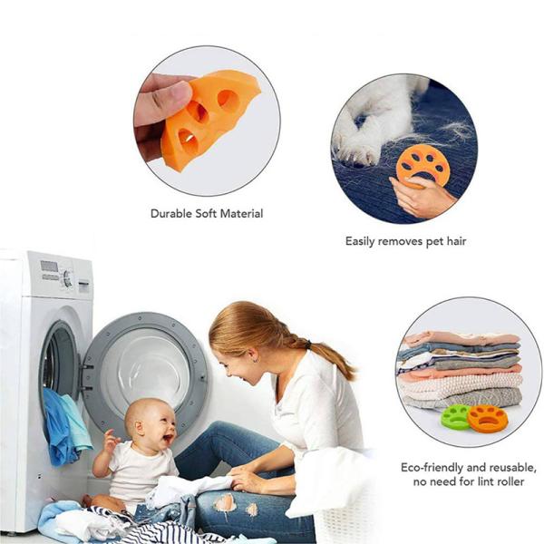 FURZAPPER 2-Pack Pet Tẩy Lông Để Giặt Chó Lông Mèo Máy Giặt Và Máy Sấy Lông