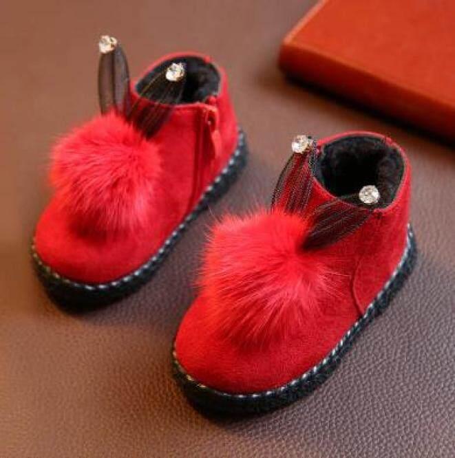 Giày Cotton Mùa Đông Em Bé Với Bóng Đế Mềm Khởi Động Chống Trượt Trẻ Sơ Sinh Giày Cho Trẻ Mới Biết Đi Trẻ Em Giày Công Chúa Nhung giá rẻ