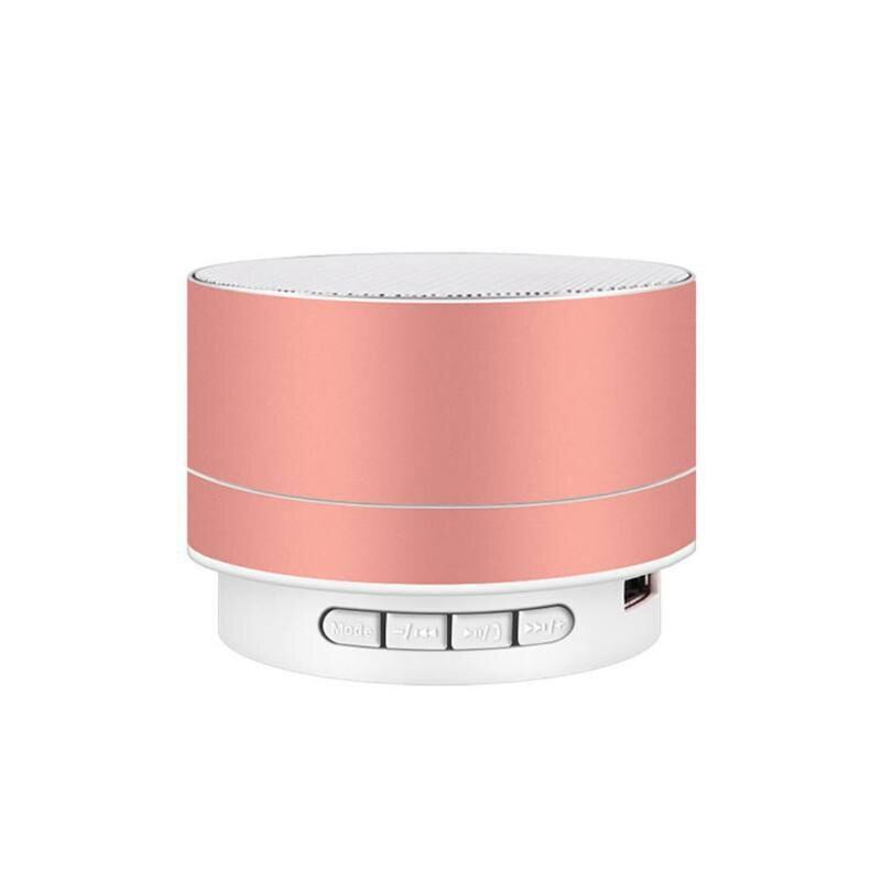 Colorful Lighting 360 Degree Stereo Surround Sound Support Usb Tf Card Speakers Portable Mini Metal Wireless Bluetooth Speaker