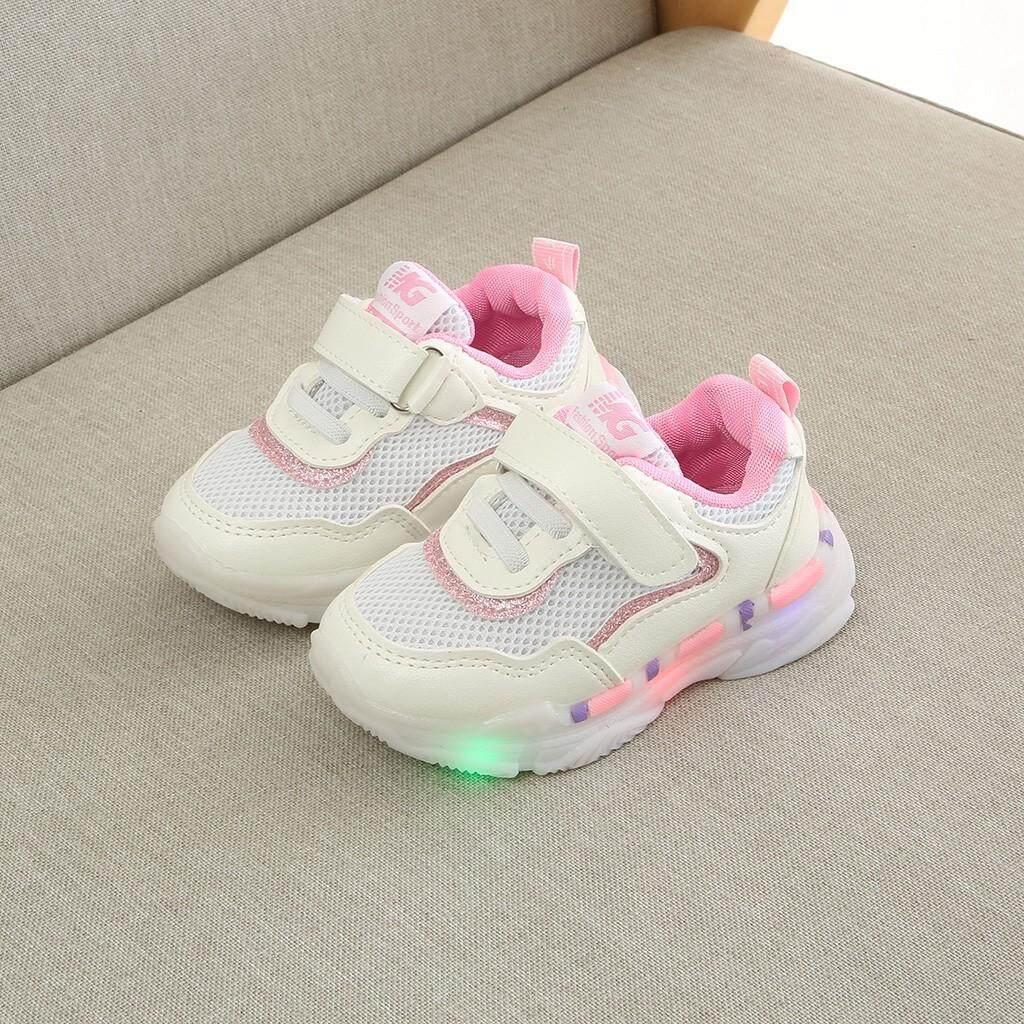 Giá bán CocolMax Trẻ Em BéBé gái Bé Trai Bé Gái Lưới Đèn LED Dạ Quang Chạy Thể Thao Giày sneakers
