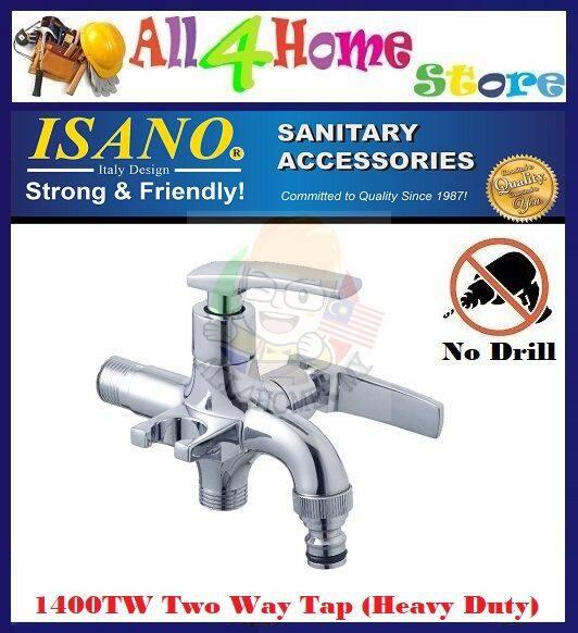 1400TW ISANO Heavy Duty Two Way Tap c/w Bidet Holder (Multi-Use)
