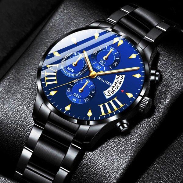Original POSHI Top Mens Brand Watches Men Luxury Stainless Steel Waterproof Chronograph Sport Wrist Watch For Men Casual Date Classic Quartz Watch Malaysia