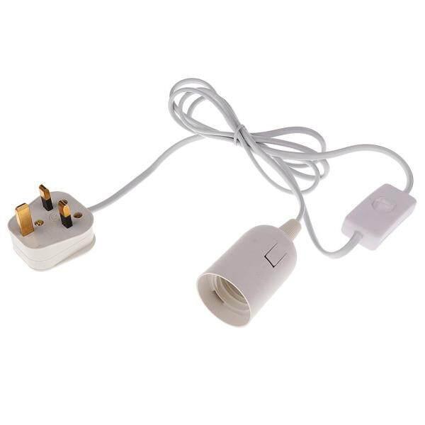 Perfk E27 LED Light Bulb Socket Holder Adapter Lamp Fitting Switch Kit UK Plug