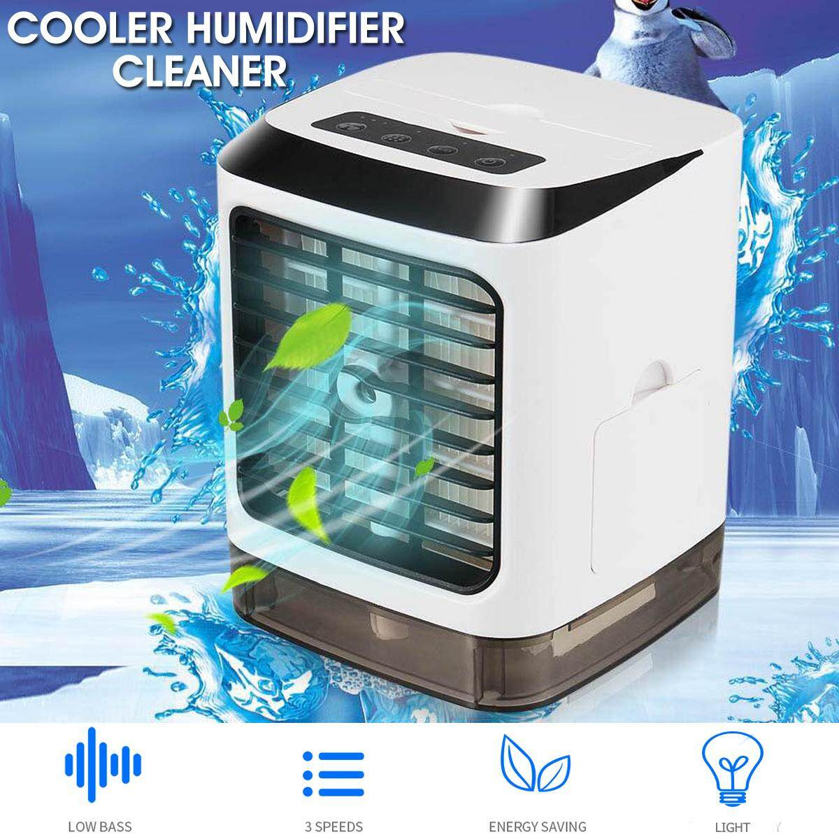 3 in 1 Portable Mini USB Air Conditioner Cool Cooler Fan Humidifier Purification